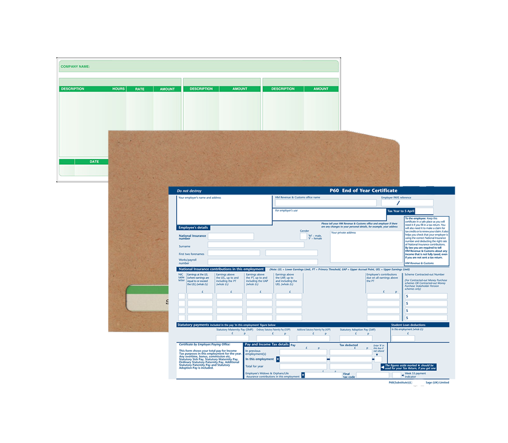 Sage 50 Payroll Stationery